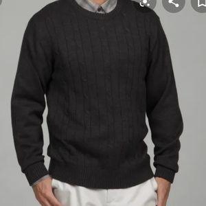 Oscar De La Renta Mens Cable Knit Sweater L
